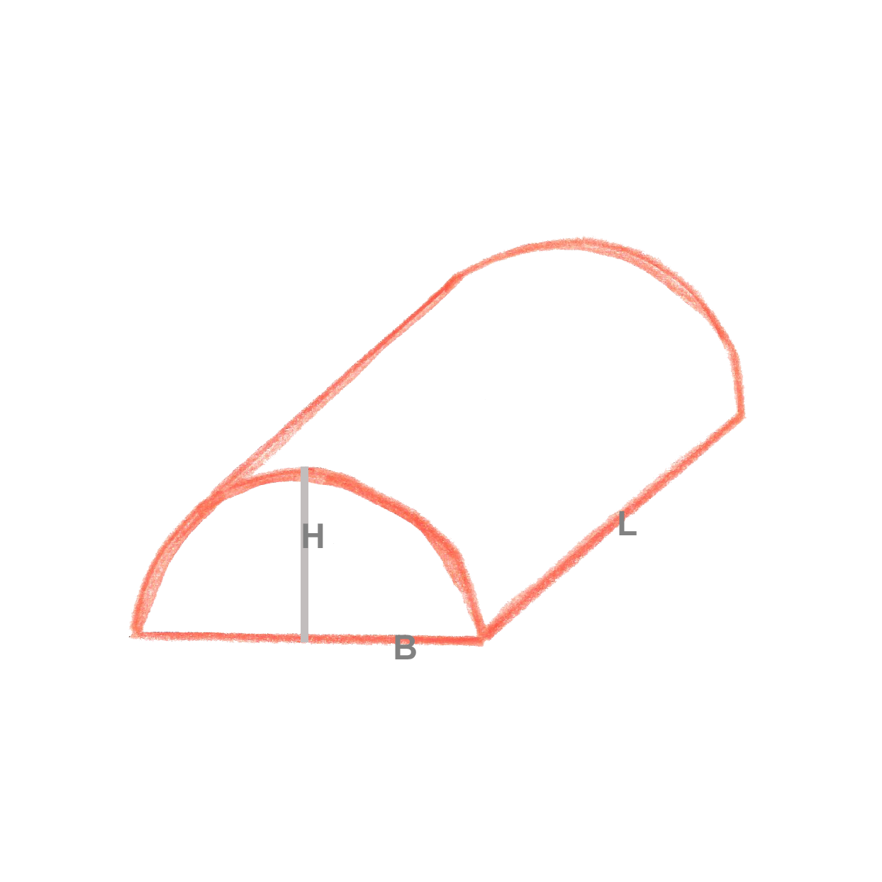 Halb-Zylinder